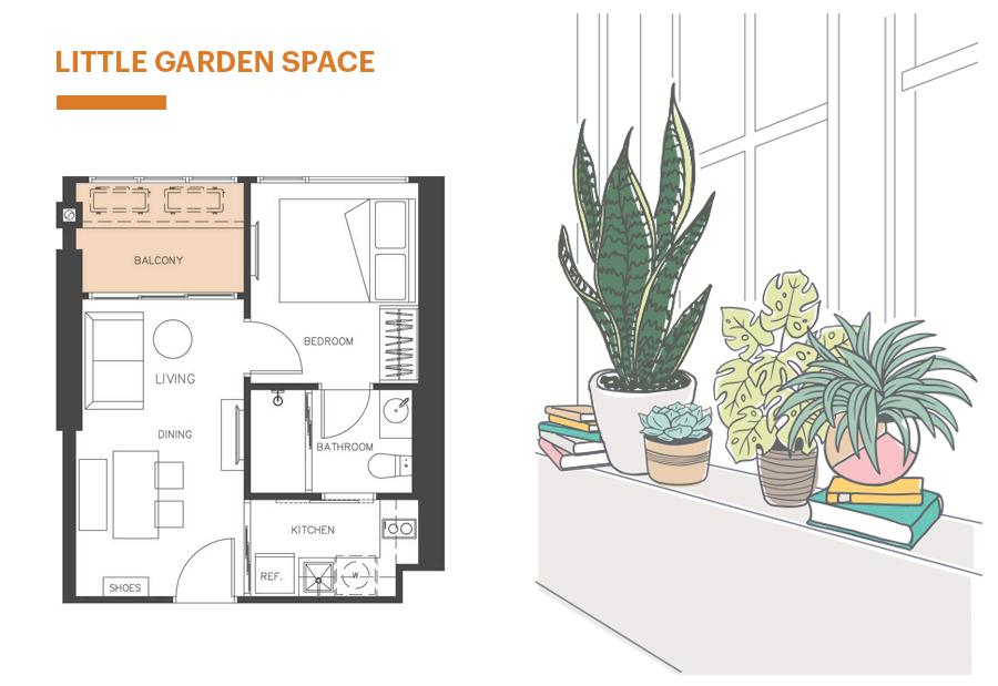 Little Garden Space มุมสวนหย่อมสีเขียวสบายตา ใกล้ชิดธรรมชาติ