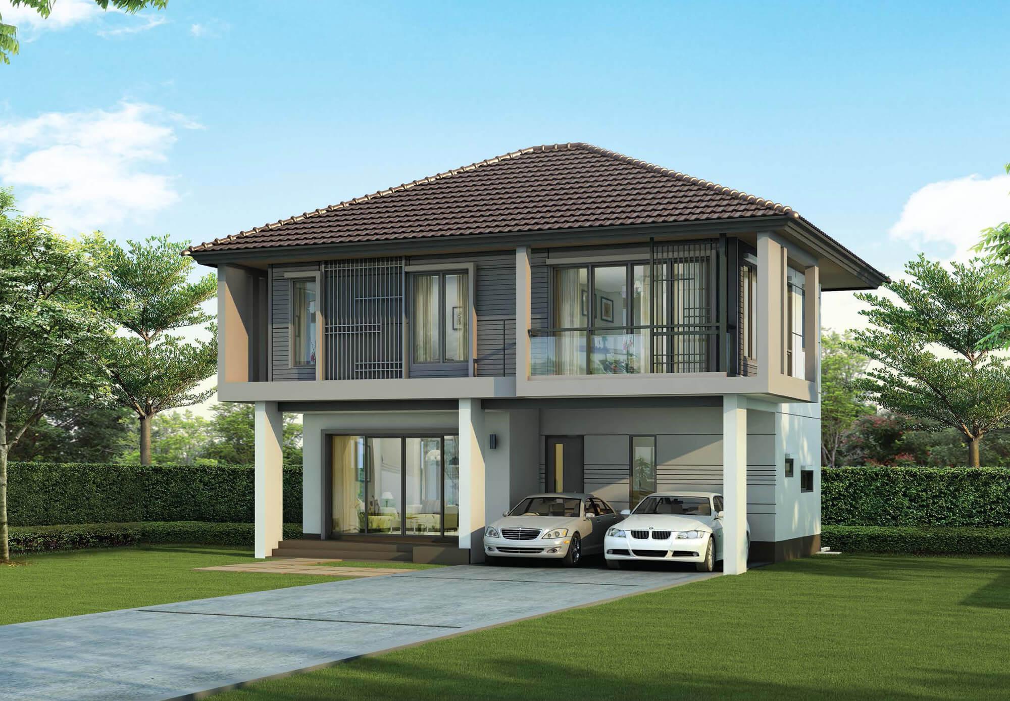 แบบบ้าน โครงการ บ้านเดี่ยวพร้อมอยู่ ฮาบิเทีย ออร์บิต หทัยราษฏร์ : HTR3