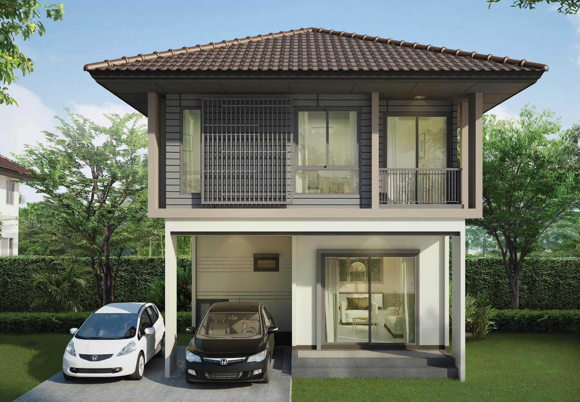 แบบบ้าน โครงการ บ้านเดี่ยวพร้อมอยู่ ฮาบิเทีย ออร์บิต หทัยราษฏร์ : HTR4