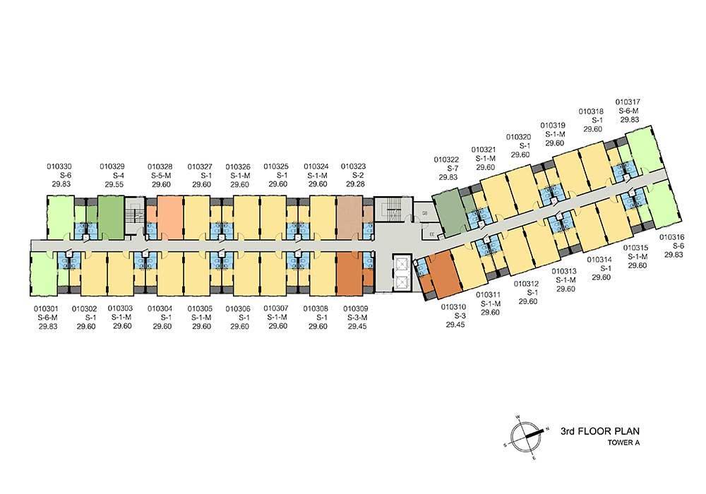 new-DCONDO-THAMMASAT2_A-3rd-floor-plan