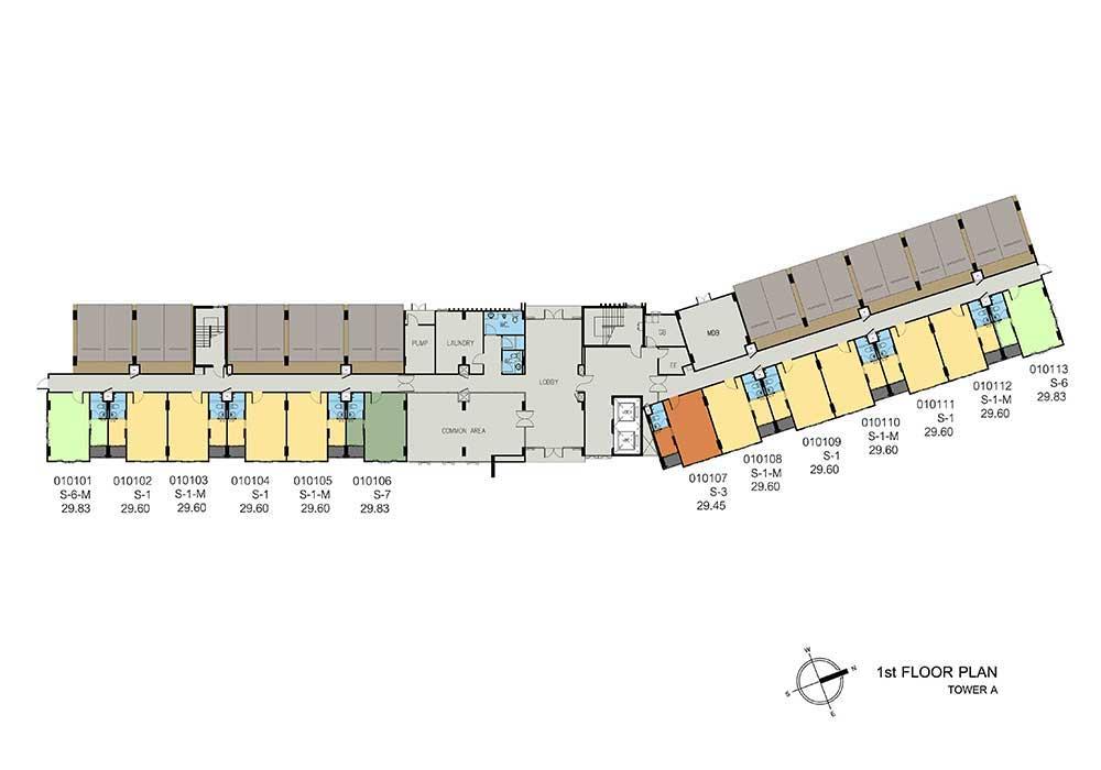 new-DCONDO-THAMMASAT2_A1st-floor-plan