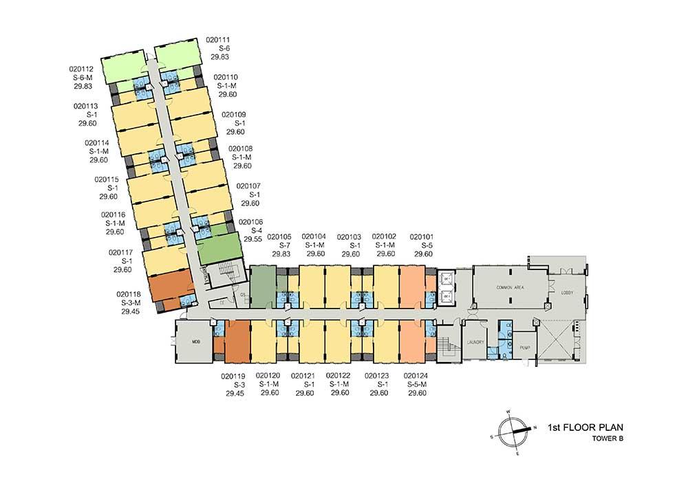 new-DCONDO-THAMMASAT2_B-1st-floor-plan