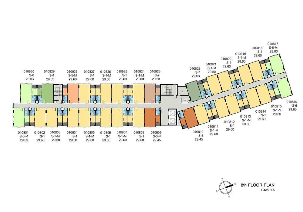 new-DCONDO-THAMMASAT2_A-8th-floor-plan