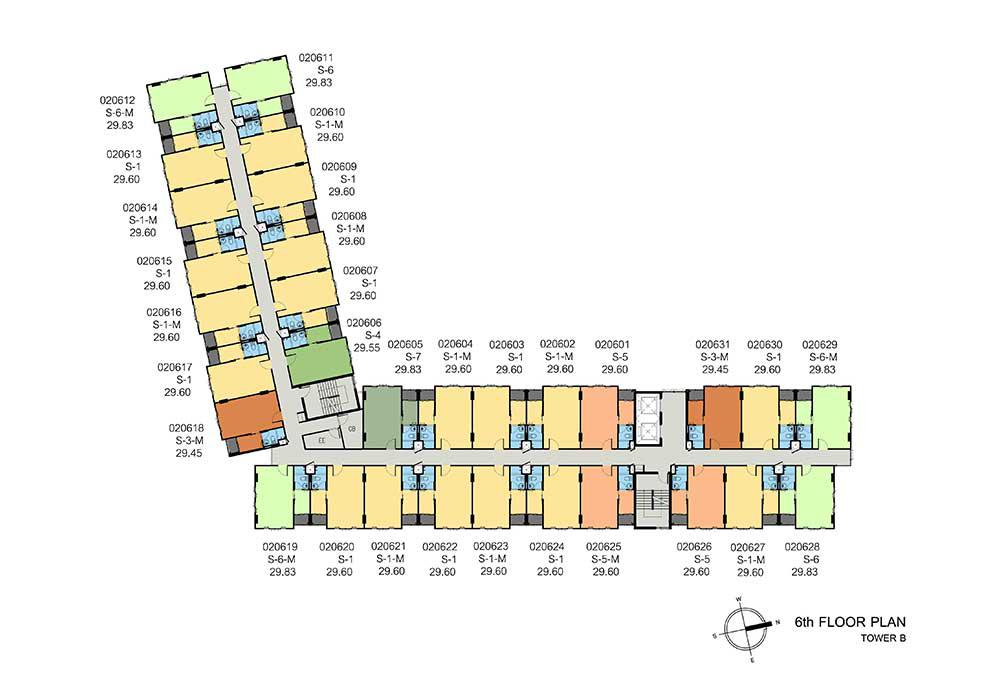 new-DCONDO-THAMMASAT2_B-6th-floor-plan