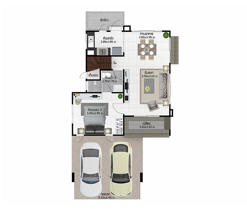 House Type Oval Burasiri Wongwaen-Onnut, Singlehouse