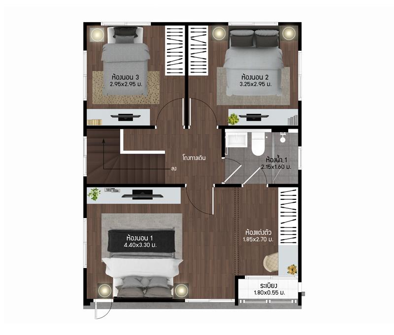 House Type Pear Burasiri Wongwaen-Onnut, Singlehouse