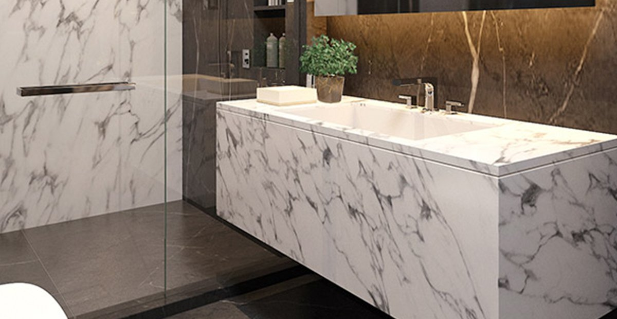 Condo Thonglor The Monument Thong Lo Marble tile basin