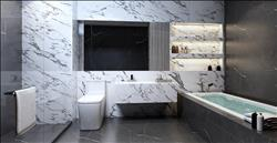 Condo Thonglor The Monument Thong Lo Marble tile bathroom
