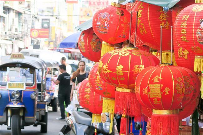 泰国曼谷唐人街街景