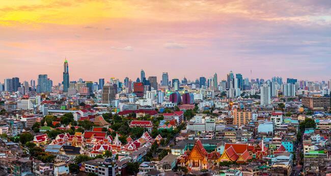 曼谷的城市天際線