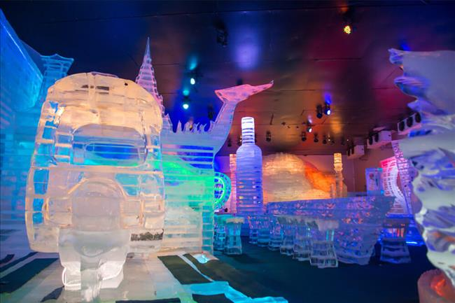 ATTAYA, THAILAND - January 3 2018: Frost Magical Ice of Siam. Snow city and bar Simulate new landmark in PATTAYA