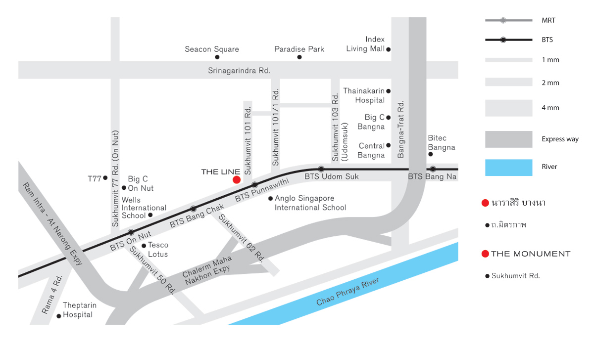 THE LINE Sukhumvit 101 公寓大廈  ,